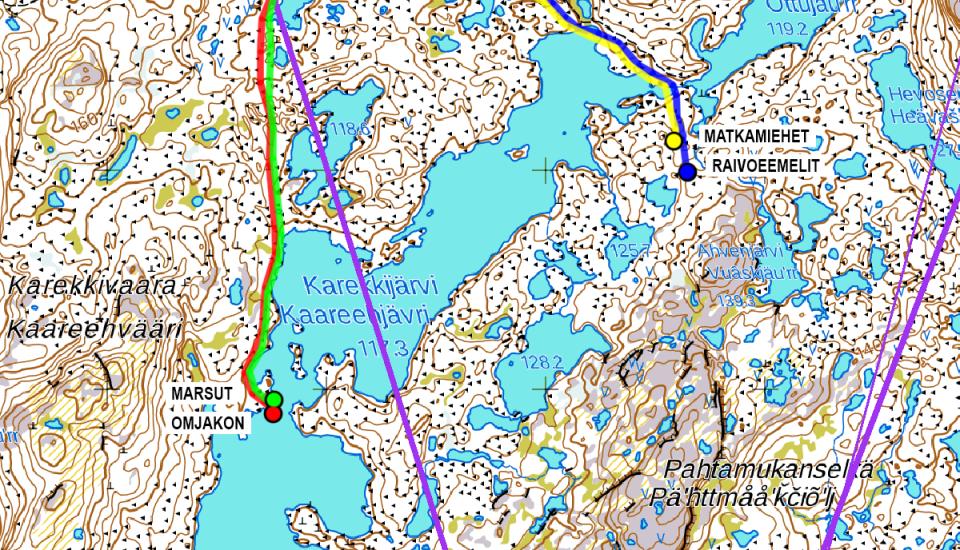 LWC 2020 GPS kartta Karekkijärvi