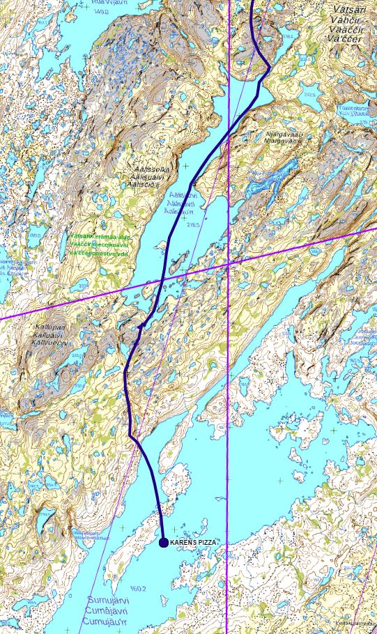 LWC 2020 GPS kartta Surnujärvi Karens pizza